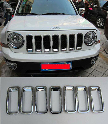 Front Grille Around Trim for 2012-2015 Jeep Patriot Full Set Arrival ABS