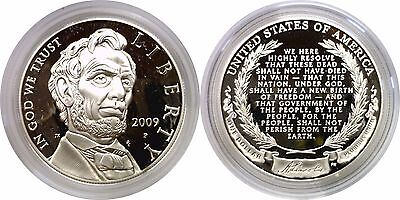2009-P $1 Abraham Lincoln Commemorative Silver Dollar Proof Mint Capsule Only