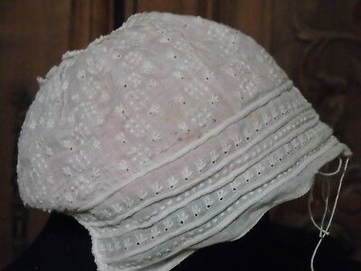 Exquisite  Antique   Embroidery Lace Babies Cap