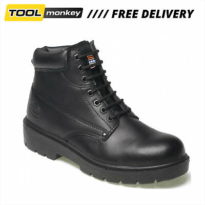Dickies Antrim Safety Work Boots Steel Toe Cap Black