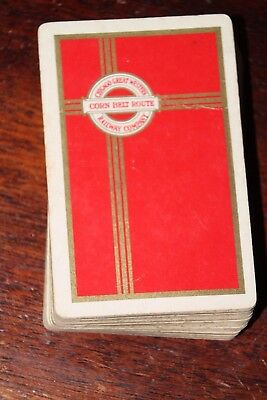 Chicago Great Western Railway Co CORN BELT ROUTE Red Complete Deck Without Box