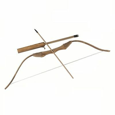 100cm WOODEN Bow W/ ARROW + QUIVER Kids Wood Archery Bow for Hunting Toy Game