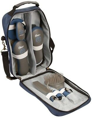 Equine Horse Care 7-Piece Grooming Kit w/ Handy Blue Storage Bag High Quality