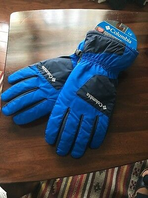 Columbia Men Six Rivers Thermal Coil Gloves Blue Large