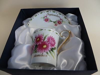 Leonardo Collection, Boxed China Cup & Saucer, Month of September.
