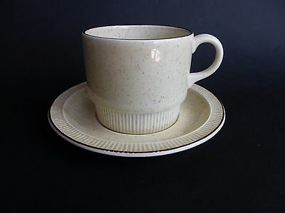 Poole Pottery, Broadstone Cup & Saucer.