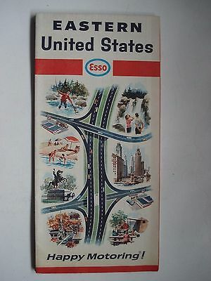 Map Eastern United States Esso 1967