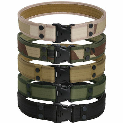 Men's Outdoor Hiking Sports Waistband Army Tactical Military Trouser Buckle Belt