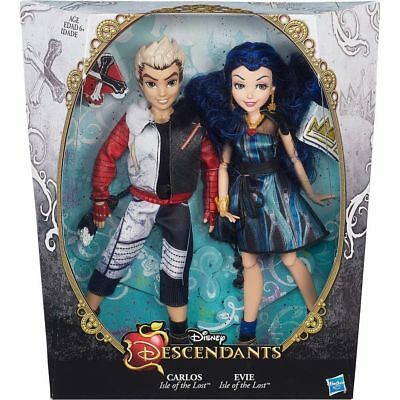 Carlos And Evie Disney Descendants Dolls  Brand New Isle Of The Lost Twin Pack