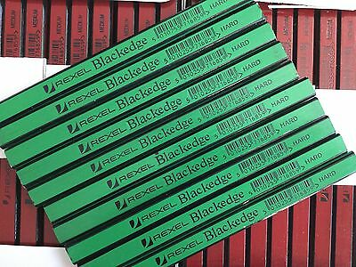 CARPENTERS PENCILS X 10  (HARD) green REXEL BLACKEDGE   pencils easy sharpening
