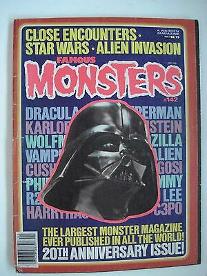 FAMOUS MONSTERS  20th ANNIVERSARY ISSUE ENGLISH MAGAZINE # 142 1978