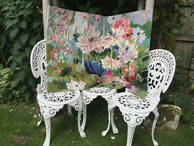 Large beautiful bright Flowery wool tapestry