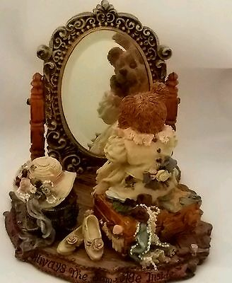 Boyds Bears Beatrice We Are Always The Same Age Inside Figurine Mirror