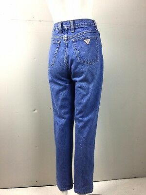 Vtg 80s 90s Womens Guess USA Jeans 27x27 High Waist Tapered Skinny Medium Wash M