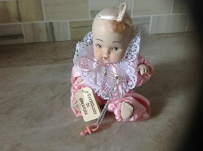 """Vtg. Italian Bisque Porcelain Baby Doll Jointed Hand Painted 5"""" Tall"""