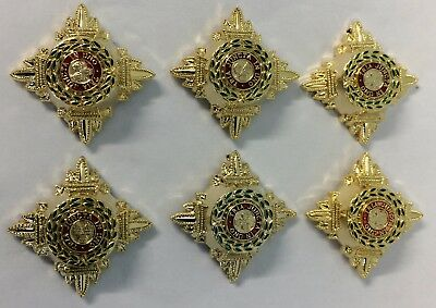 Rank Captain,Officer 6 x Gold & Enamel 5/8 Rank Stars, Pips,Army, Military