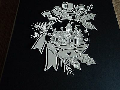 Tattered Lace Wonderful In White - Glisten In The Snow Die Cuts X 6 In White