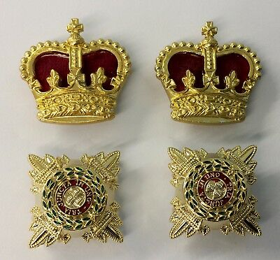 Rank Lieutenant Colonel,5/8 Gold & Enamel Rank Stars, Pips, & Gold Crowns,Army