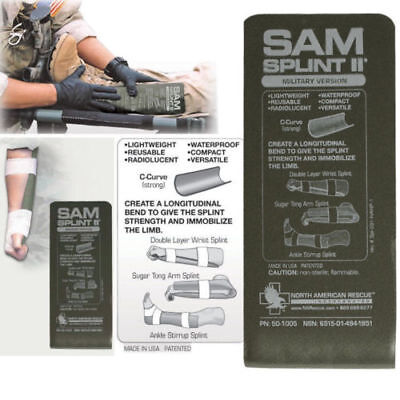 New Sam Splint Ii Limb Military Tactical North American Rescue 50-1005  One(1)