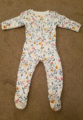 Mothercare 18-24 Mth Wadded Walk in Sleeper Sleepsuit Floral Forest 2.5 Tog VGC