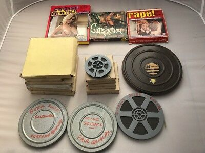 Rare Lot of 19 Vintage Adult Stag 8mm Films Color & Black and White Picture Home