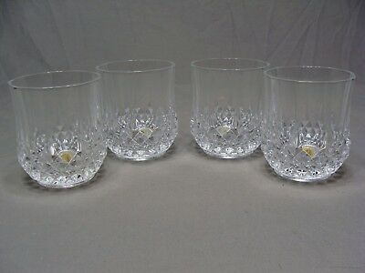 4 J.G. Durand Cristal D'Arques Longchamp Crystal 10 3/4 oz Double Old Fashioned