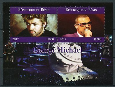 Benin 2017 CTO George Michael 2v M/S Celebrities Pop Stars Music Stamps