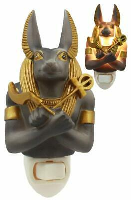 Ebros Ancient Egyptian Anubis God of the Underworld Decorative Wall Night Light
