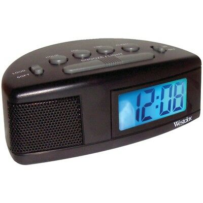 Westclox(R) 47547 Super Loud LCD Alarm Clock with Blue Backlight