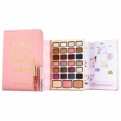 TOO FACED Boss Lady Beauty Agenda (For Eyes, Lips, Face) Holiday Collection NIB