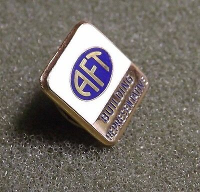 AFT Building Representative Lapel Pin American Federation of Teachers Union Stew