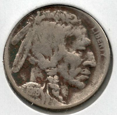 Nice 1919 D Buffalo Nickel Buy it now Free Shipping in USA