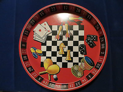 Vintage Gambling or Casino Themed Cocktail Serving Tray