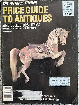 Antique Trader Price Guide To Antiques Carousel Animals  Magazine 1986  RARE
