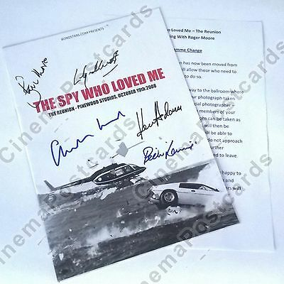 James Bond 007 Pinewood 2008 Spy Who Love Signed Program 5 Autograph Roger Moore