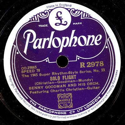 BENNY GOODMAN & HIS ORCH. Solo Flight (feat. Ch. Christian - Guitar)/ 78rpm X419