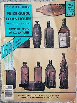 Antique Trader Price Guide To Antiques Magazine Bitters Bottles 1976 RARE