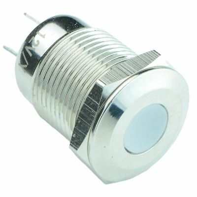 Vandal Resistant 12mm Metal LED Indicator IP65