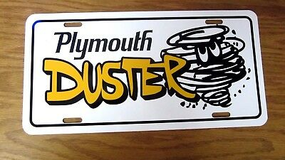 Plymouth DUSTER license plate tag 1970 1971 1972 1973 1974 1975 1976 318 340