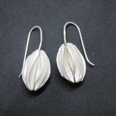 (eB129) Pendientes  Plata Fina Hechos a Mano - solid Silver Hand  Made Earrings