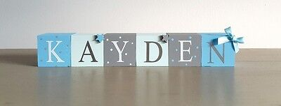 wooden name blocks. baby shower/ baby present