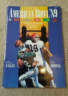 American Bowl 1989 at Wembley programme