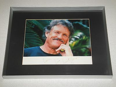 """KRIS KRISTOFFERSON SIGNED AUTOGRAPH FRAMED 14 1/4""""x11 1/4"""" COUNTRY MUSIC"""