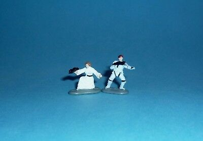 STAR WARS Micro Machines - LUKE & LEIA Death Star Figures - Galoob