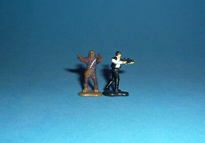 STAR WARS Micro Machines - HAN SOLO & CHEWBACCA Figures - Galoob