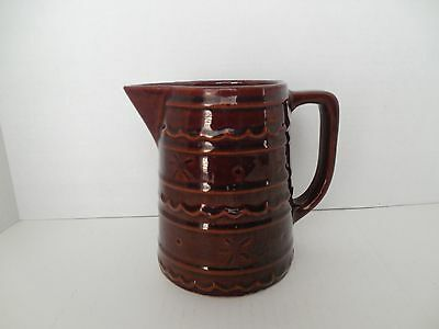 Mar-Crest stoneware pitcher; 6 inches tall