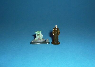 STAR WARS Micro Machines - YODA & OBI-WAN Dagobah Playset Figures - Galoob