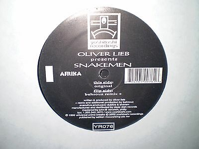 "Oliver Lieb Presents. Snakemen - Africa Remixes 2x12"" - Yoshitoshi Records"