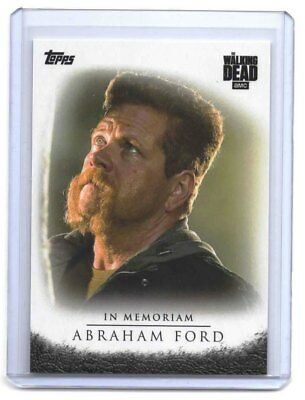 The Walking Dead Season 7  Abraham Ford In Memoriam Exclusive Trading Card IM-1