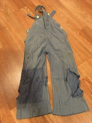 Vintage 1940's Blue Striped Childs Play Suit Very Cool Style!!